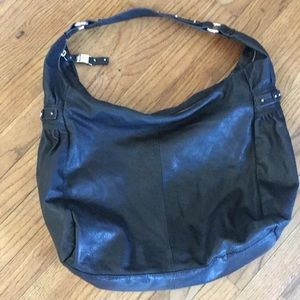 Kenneth Cole reaction black leather hobo purse